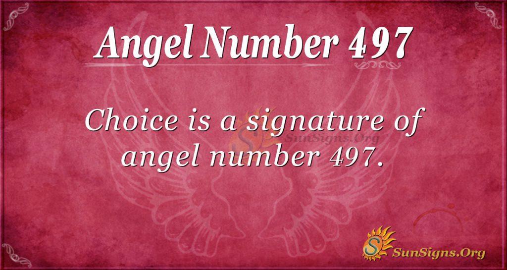 Angel Number 497