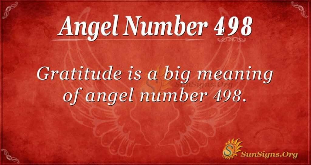 Angel Number 498