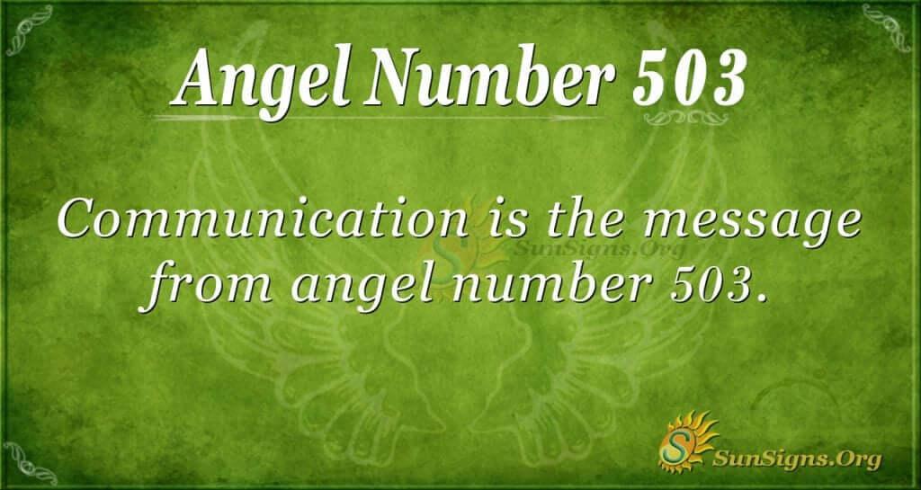 Angel Number 503