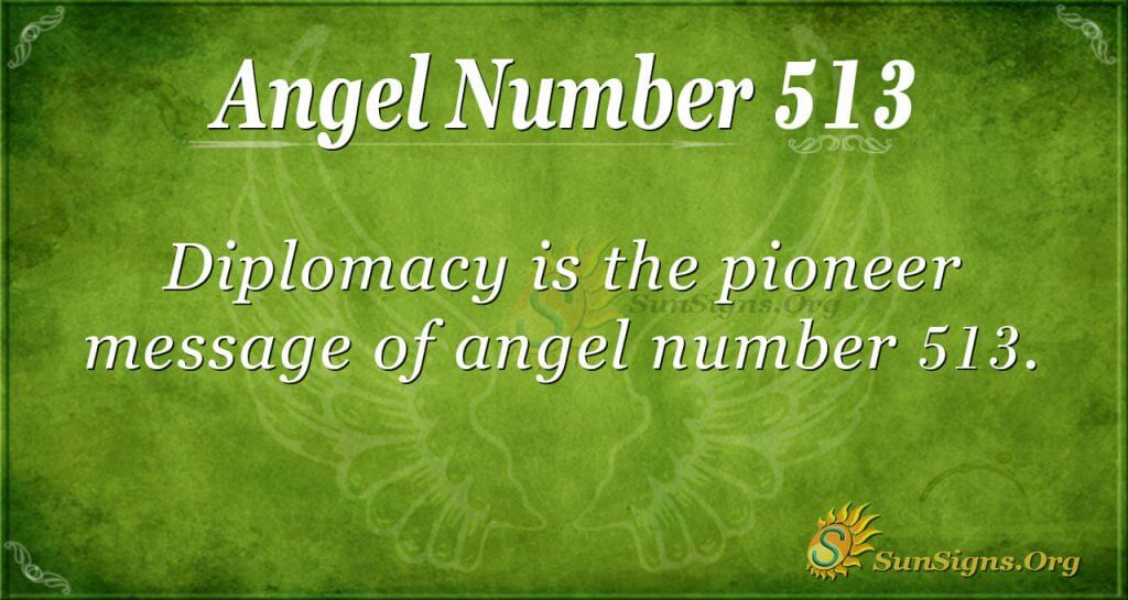 Angel Number 513