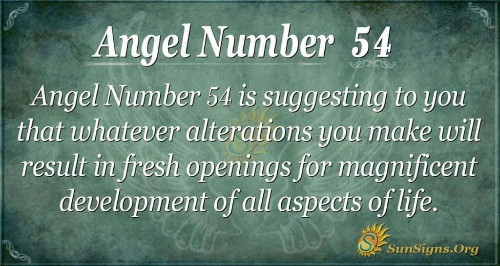 Angel Number 54