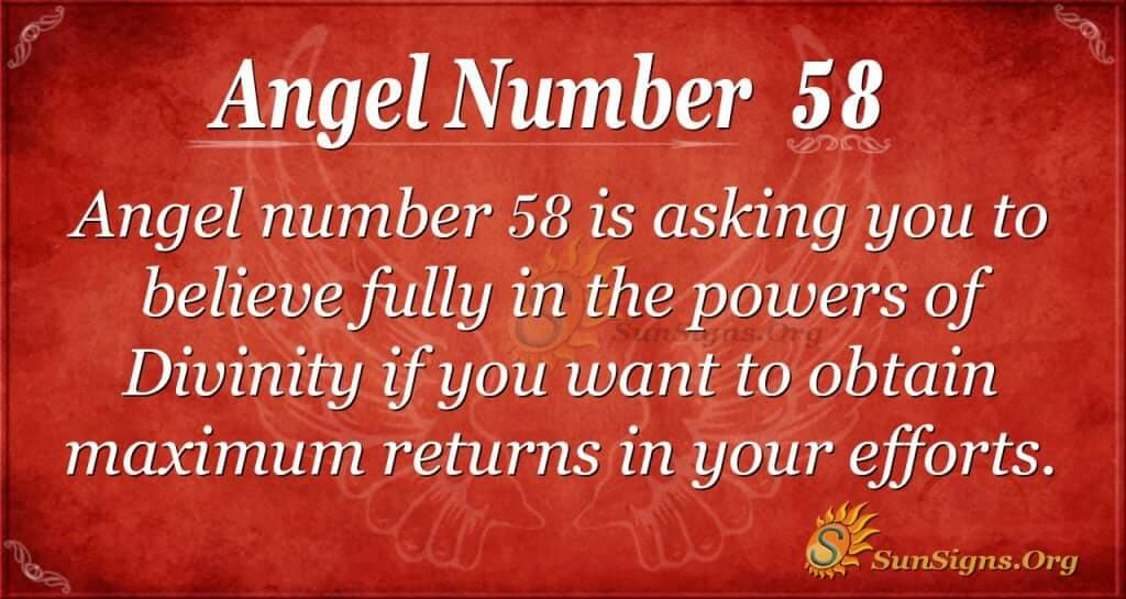 Angel Number 58