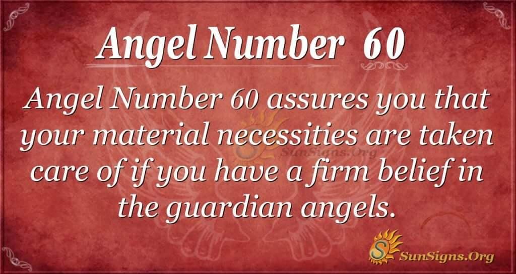 Angel Number 60