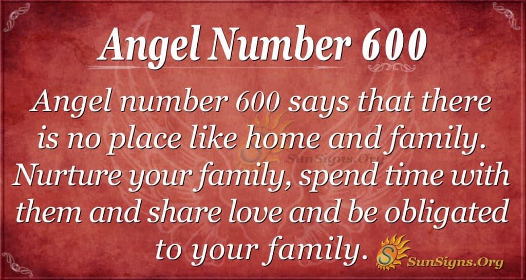 angel number 600