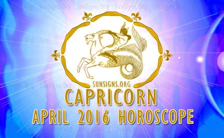 capricorn april 2016 horoscope