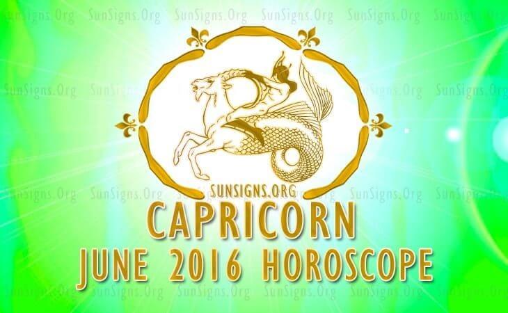 capricorn june 2016 horoscope