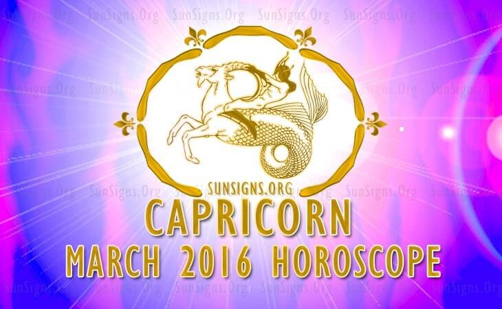 capricorn march 2016 horoscope