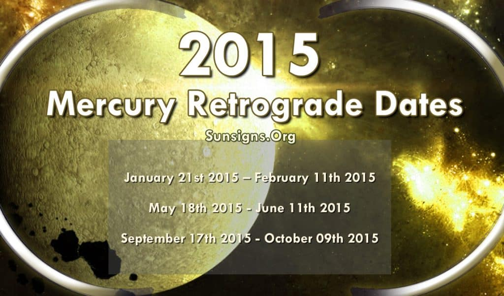 Three Mercury Retrogrades happen in the year 2015
