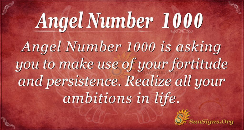 angel number 1000