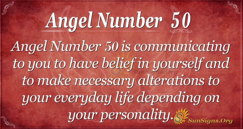 angel number 50