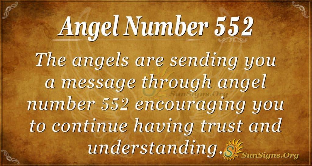 angel number 552