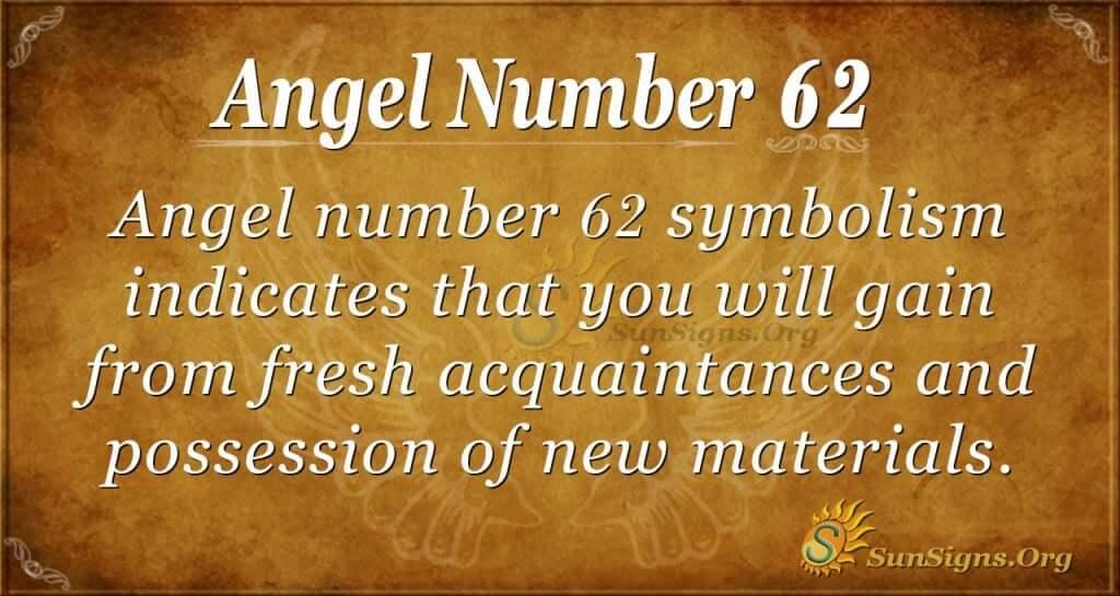 angel number 62