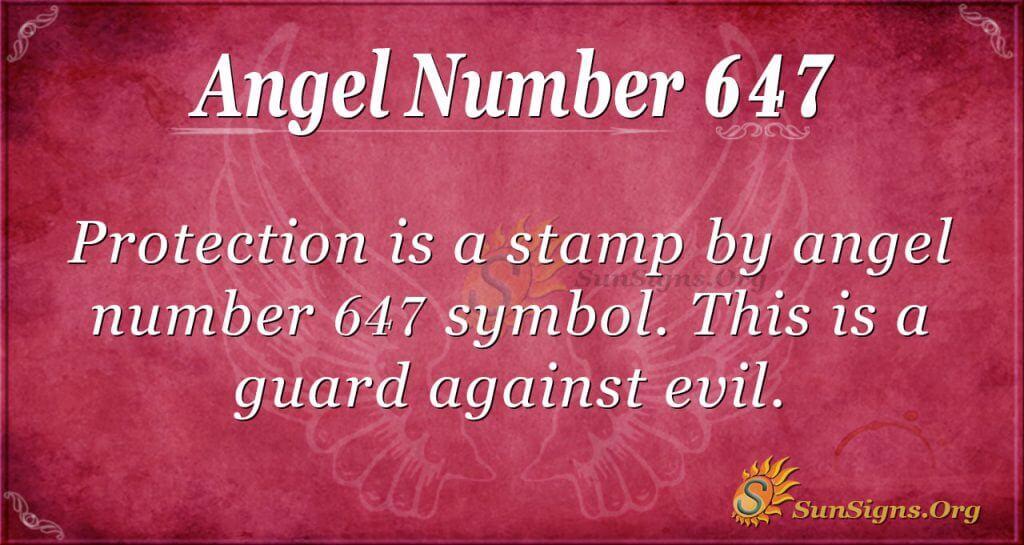 angel number 647