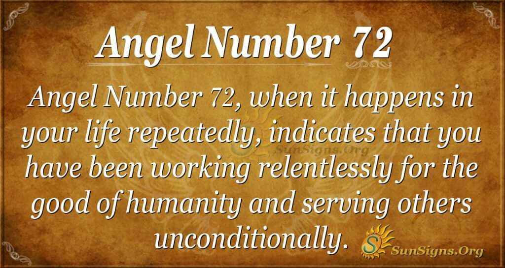 angel number 72