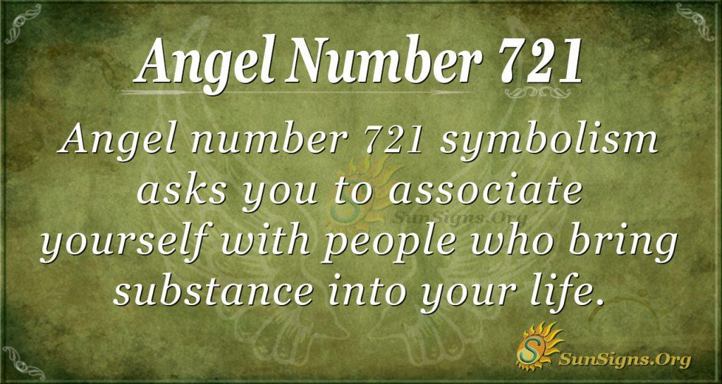 Angel Number 721