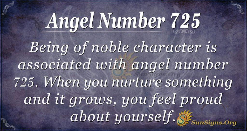 Angel Number 725