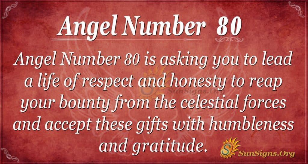Angel Number 80