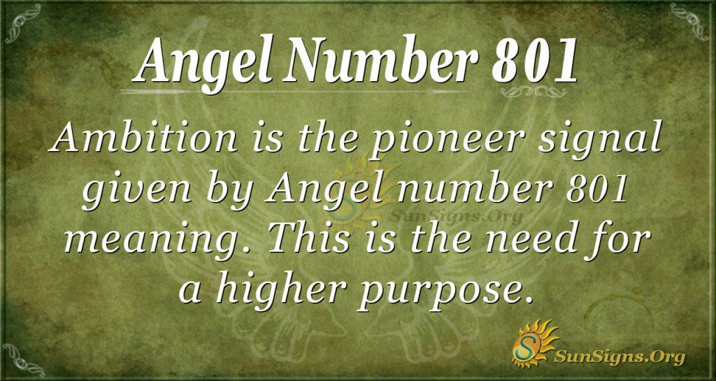 angel number 801