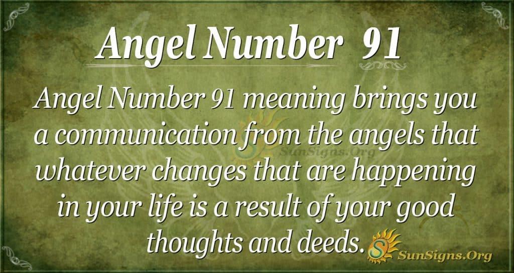Angel Number 91