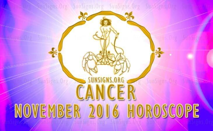 cancer november 2016 horoscope