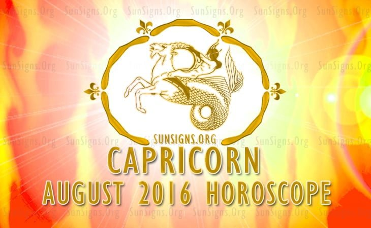 capricorn august 2016 horoscope