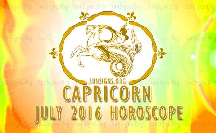 capricorn july 2016 horoscope