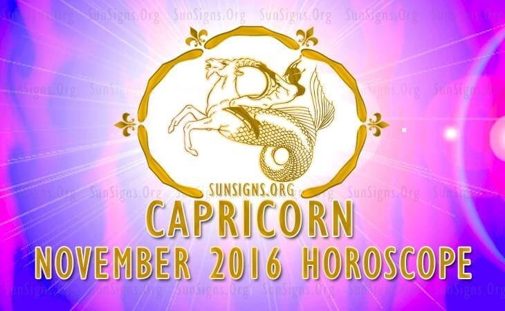 capricorn november 2016 horoscope