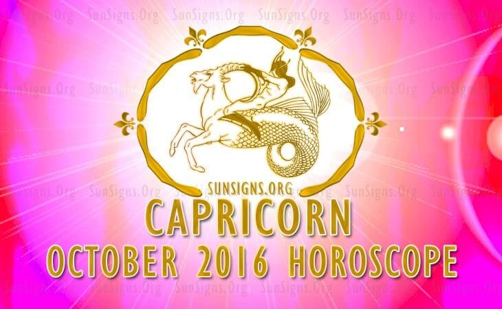 capricorn october 2016 horoscope