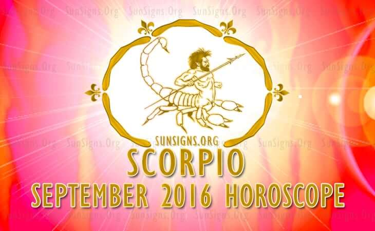 scorpio september 2016 horoscope