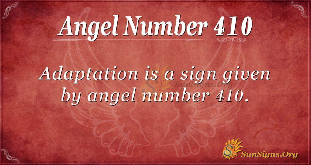 Angel Number 410