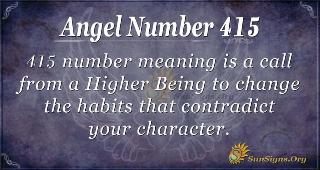 Angel Number 415
