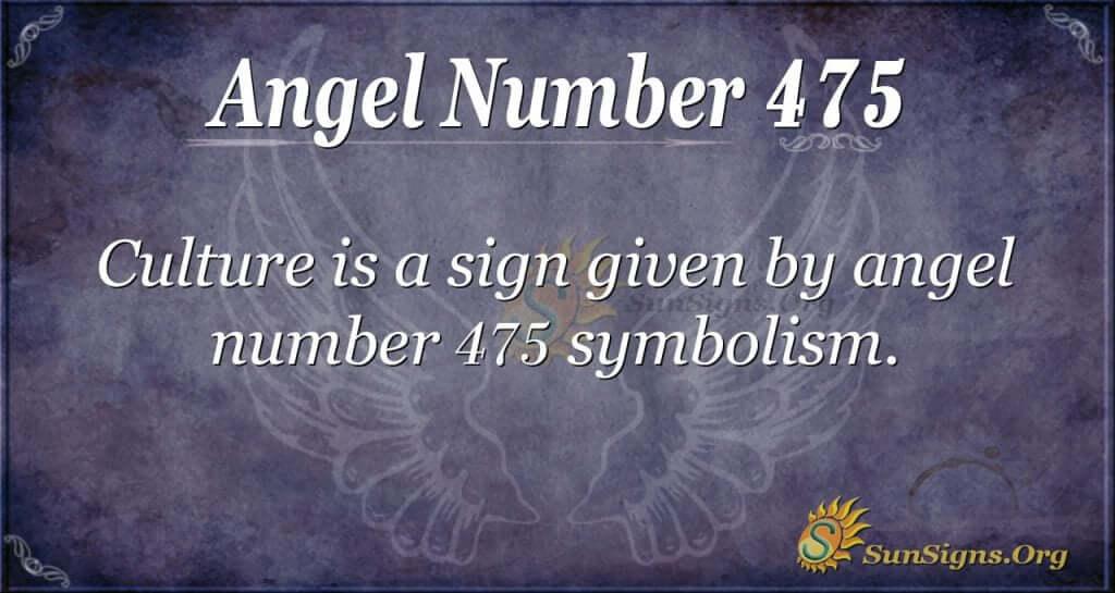Angel Number 475