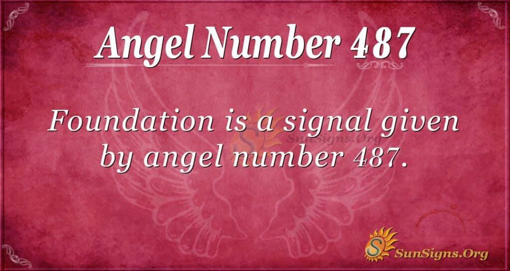 Angel Number 487
