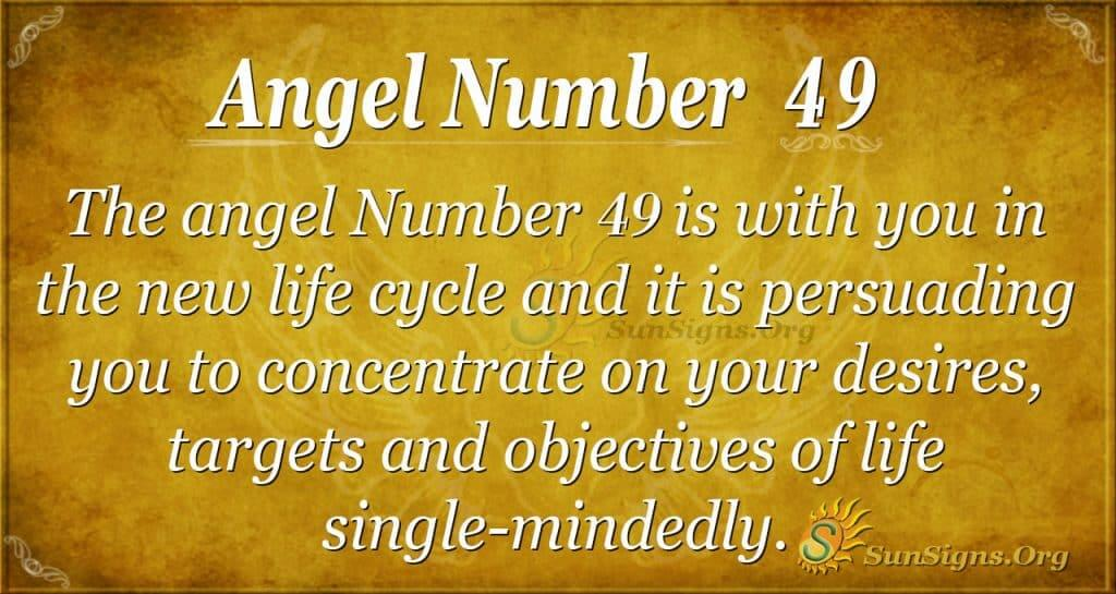 angel number 49