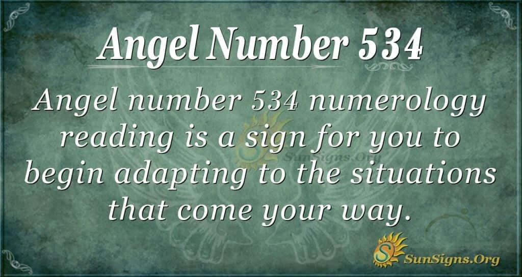 Angel Number 534