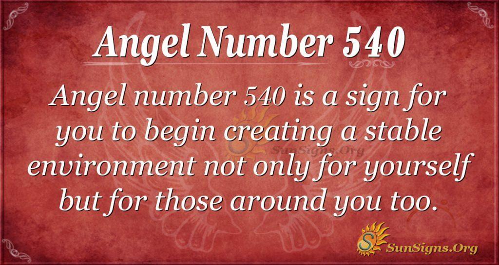 Angel Number 540