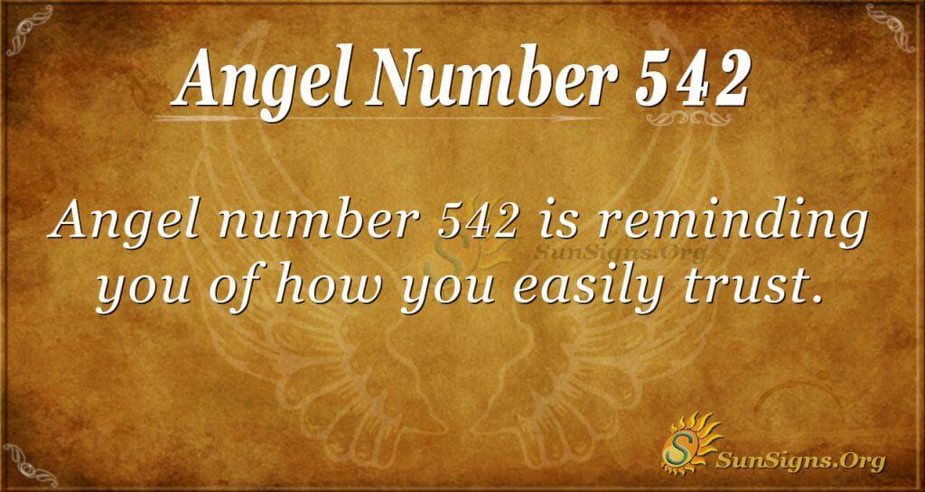 Angel Number 542