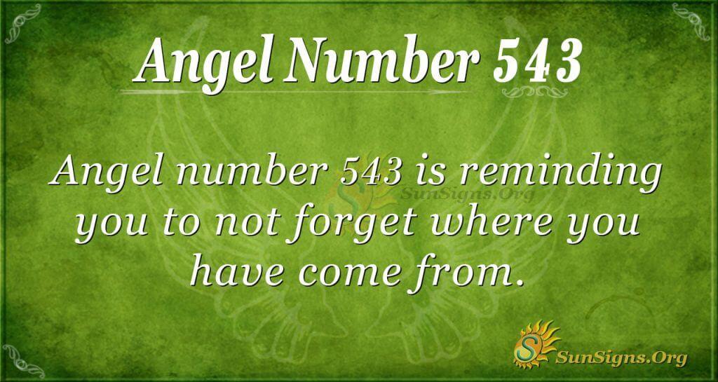 Angel Number 543