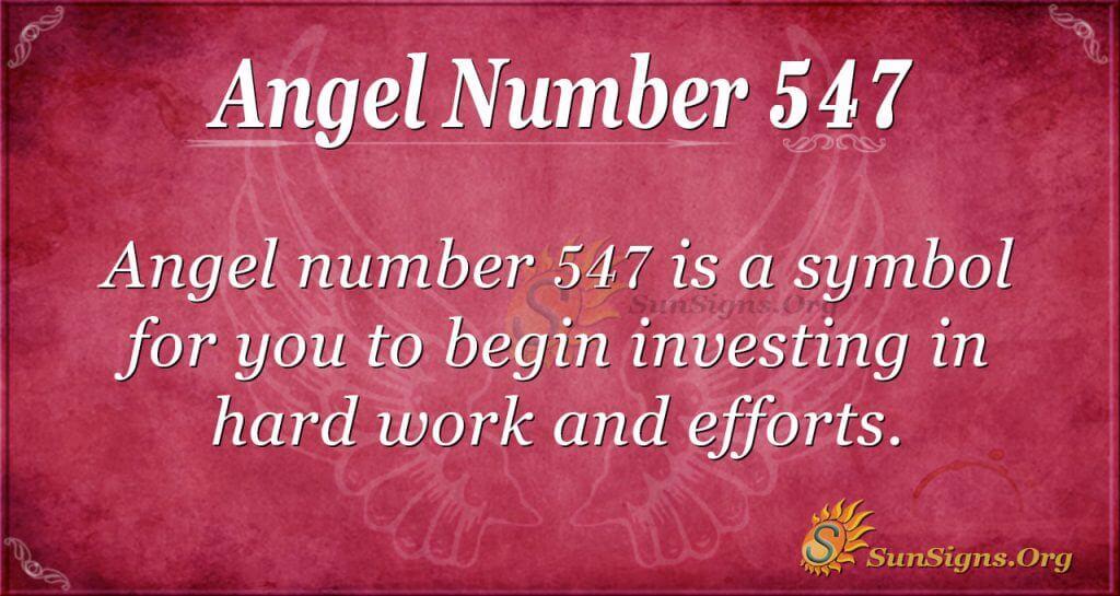 Angel Number 547