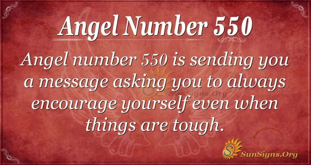 Angel Number 550
