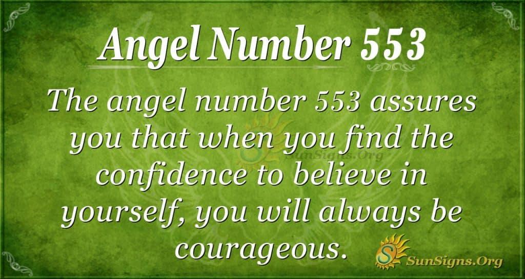 angel number 553