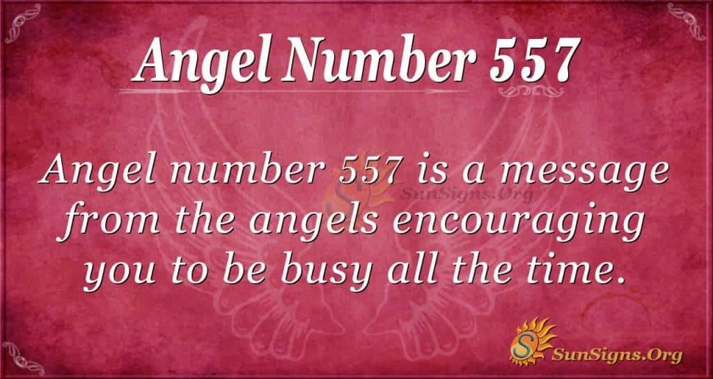angel number 557