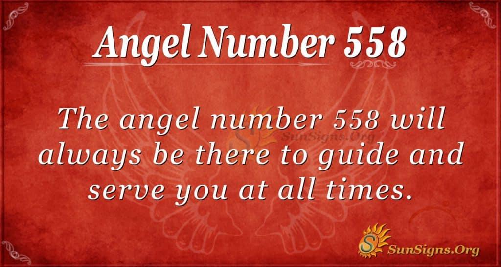 angel number 558