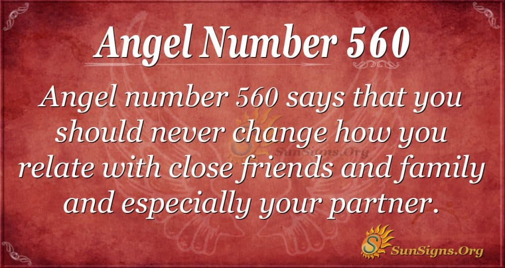 angel number 560