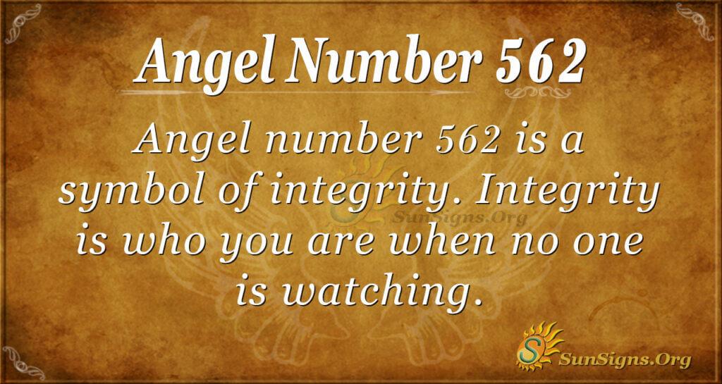 Angel Number 562