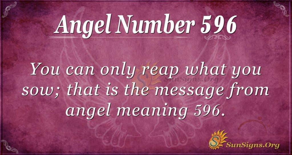 angel number 596