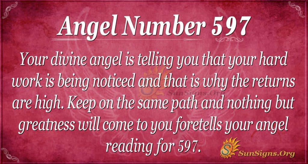 angel number 597