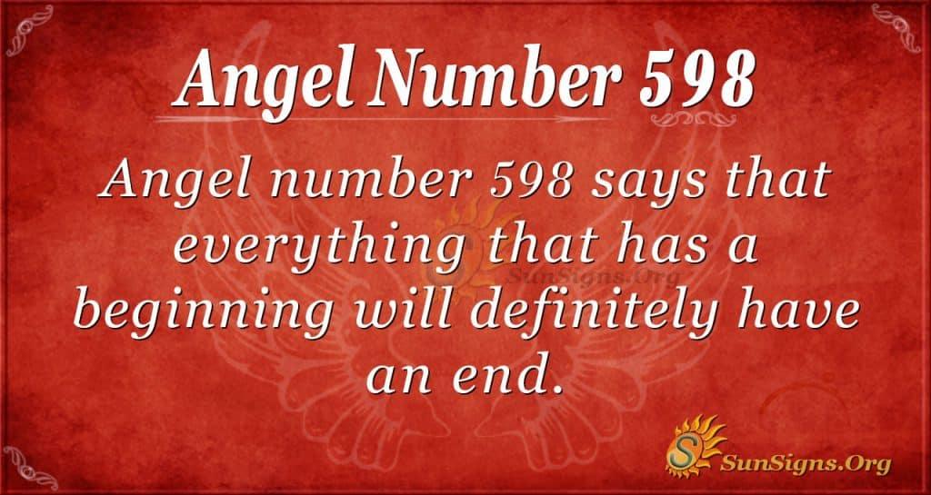 angel number 598