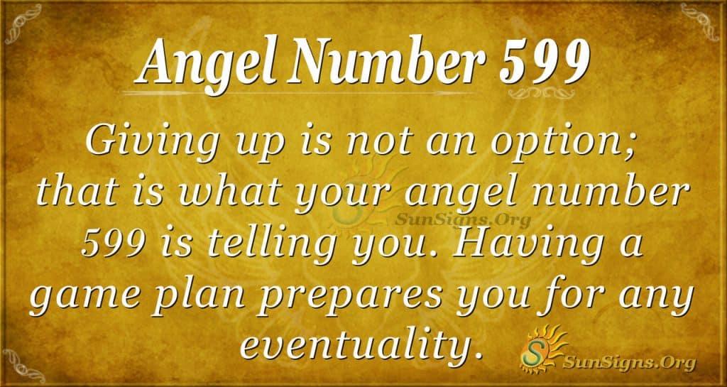 angel number 599