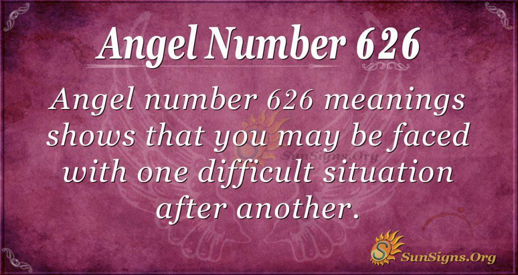angel number 626